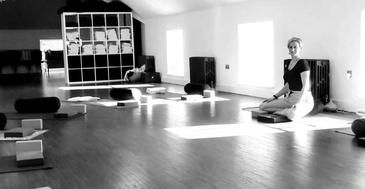 Amy teaching Mindfullness in her studio